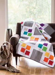 Gray Square Scramble Quilt Pattern Download