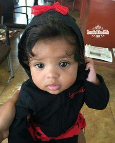 Kimora - 9 Months • African American & Italian ❤ FOLLOW @beautifulmixedkids on instagram