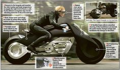 The self-balancing BMW Motorrad Vision Next 100 concept motorcycle is unveiled on the last...