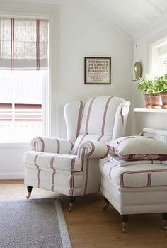 french ticking chair