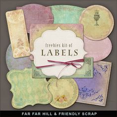New Freebies Kit of Labels:Far Far Hill - Free database of digital illustrations and papers
