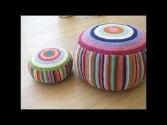 Bellas decoraciones para el hogar tejida - YouTube