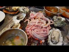 Korean Street Food - Korean Seafood BBQ Live Abalone & Hagfish