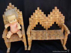 Wooden Clothespin Crafts, Wood Crafts, Paper Crafts, Popsicle Stick Crafts, Craft Stick Crafts, Doll Furniture, Dollhouse Furniture, Corn Husk Crafts, Bike Sketch