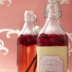 Vanilla-Cranberry Vodka...nice for gifts and favors!