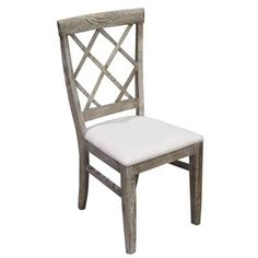 $325.00/ea Stone-washed Oak Chair, available online at www.TheLookInteriorsNH.com
