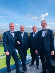 Under Bens Watchful Eye ⛰️👀  Pictured here are Eugene Higgins and his trusted companions on his big day last weekend.  The boys look the part with the ever beautiful backdrop of Benbulben in the background to compliment them even more.  Best wishes to Eugene and Maria in their future together 👫 Eye Pictures, Big Day, Compliments, Backdrops, Suit Jacket, Wedding Day, Future, Boys, Beautiful