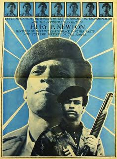 Black Panther newspaper depiction of Huey P. Newton, co-founder and Minister of Defense of the Black Panther Party for Self-Defense. Feb. 17 was the 67th anniversary of his birth. by Pan-African News Wire File Photos, via Flickr