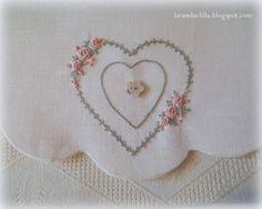 embroidery bullion stitch roses heart wreath Lavanda e Lillà : Claudia Rita
