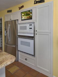 Wall Recessed Fridge Kitchen Remodel Ideas Kitchen
