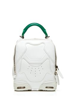 Small Sneaker Bag In Optic White And Astroturf by Alexander Wang for Preorder on Moda Operandi