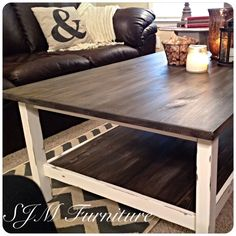 IKEA coffee table use to be all black, now it's been given a shabby chic… Diy Furniture Projects, Furniture Makeover, Diy Projects, Weekend Projects, House Projects, Ikea Hemnes Coffee Table, Cocina Diy, Coffee Table Makeover, Shabby Chic Furniture