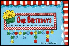 Oh! The wonderful things you can do with our Seuss-like Classroom Décor! We've used colors that match perfectly with your commercially purchased Dr. Seuss classroom products. $ The Birthday Sign and Tags are perfect for keeping track of everyone's special day!