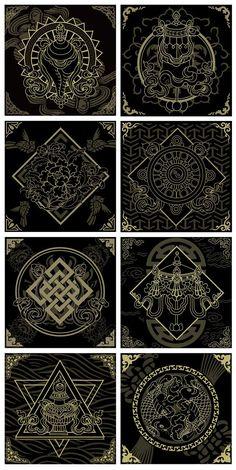 35 Ideas Tattoo Designs Mandala Symbols For 2019 Mandala Symbols, Sacred Geometry Symbols, Sacred Geometry Tattoo, Zentangle, Typographie Logo, Design Mandala, Art Asiatique, Magic Symbols, Tibetan Art