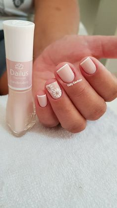 18 Melhores ideias de unhas francesinhas para 2018 Stylish Nails, French Nails, Hair And Nails, Nail Designs, Tattoos, Beauty, Color, White Nail Beds, Perfect Nails