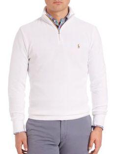 POLO RALPH LAUREN Long Sleeve Zip Sweater. #poloralphlauren #cloth #sweater
