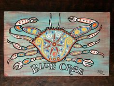 New Orleans wood sign Original painting folk art Jazz Fest Crab Painting, Painting & Drawing, Drawing Tips, Crab Art, Louisiana Art, New Orleans Art, Hand Painted Signs, New Art, Wood Signs