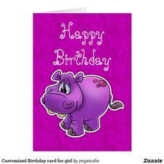 Customized Birthday card for girl
