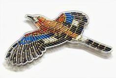 aves realizada con cartuchos reciclados.19bis.com