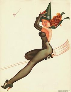 Green Witch Pin Up by Petty