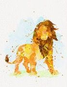 Simba watercolor