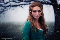@Red_Sangre Our beautiful 'Demelza in the Snow' by #Elizabeth #digitalart such #talent #Poldark @BBCOne