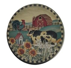 Barn Scene Burner Cow-vers Cow Kitchen, Kitchen Gifts, Burner Covers, Cows, Decorative Plates, Barn, Scene, Future, Ideas