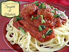 Really Great Spaghetti & Meatballs   veronicascornucopia.com