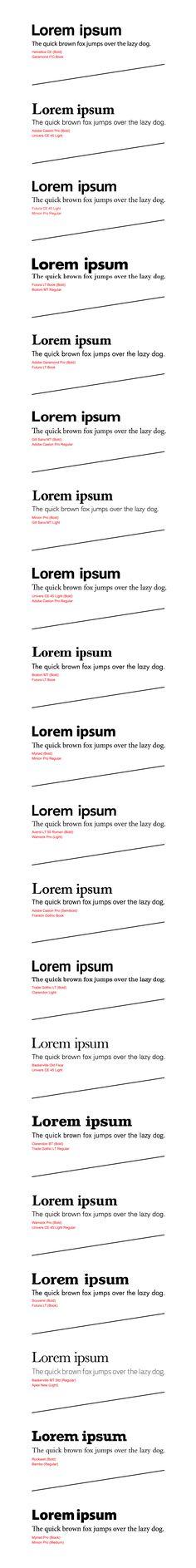 Best Fonts And Font Combinations, PART 3