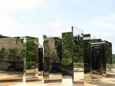 Jeppe Hein's 'Mirror Labyrinth'. Not strictly a labyrinth , more of a play space but extremely effective and compelling.
