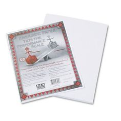 Pacon Products  Pacon  Riverside Construction Paper 76 lbs 9 x 12 White 50 SheetsPack  Sold As 1 Pack  Heavyweight groundwood allpurpose classroom art paper with soft eggshell finish  Acidfree for archival quality  -- Check out this great product.-It is an affiliate link to Amazon.
