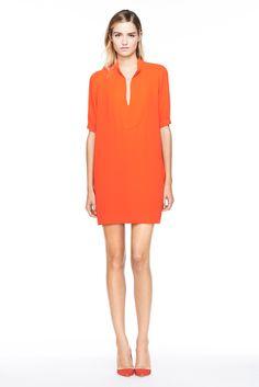 Crew Spring 2014 Ready-to-Wear Fashion Show Orange Fashion, Orange Dress, Lady, Dress Skirt, Shirt Dress, Blouse, Fashion Show, Fashion Spring, Ready To Wear