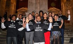 Selma cast and crew wear 'I can't breathe' T-shirts to New York premiere