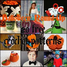 """Original pinner wrote, """"Free Crochet Round-Up: Halloween. costume, treat bag, cup cozy, and oogie boogie. - Free Crochet Pattern"""