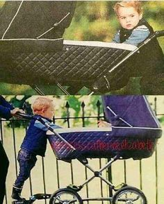 Prince George with his baby sister Princess Charlotte, in the park, fall 2015 Prince And Princess, Princess Kate, Princess Charlotte, Baby Prince, Princess Of Wales, Prince George Alexander Louis, Prince William And Catherine, British Nobility, Princesa Kate Middleton