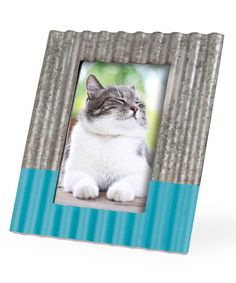 Look what I found on #zulily! Blue Corrugated Frame #zulilyfinds