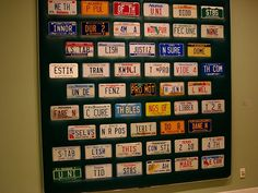Social Studies - Preamble in license plate form. Have students research each state and recreate this together. Idea from Rafe Esquith's Teach Like Your Hair's on Fire