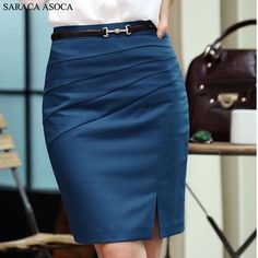 Cheap work skirts, Buy Quality straight skirt directly from China fashion skirt Suppliers: Spring Summer Autumn Fashion Work Skirts Women's Solid Color Slim Hip Middle Waist Straight Skirt For Girls Work Skirts, Cute Skirts, Casual Skirts, Autumn Fashion Work, Slim Hips, Fashion Leaders, Straight Skirt, International Fashion, Work Attire