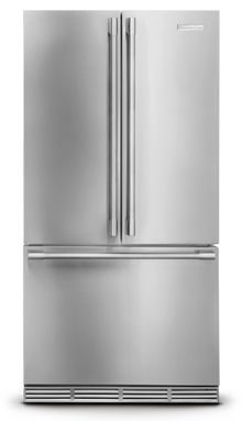 Electrolux ICON Professional E23BC68JPS 36in Counter-Depth French Door Refrigerator 22.6 cu. ft with 4 Custom-Design Glass Shelves, 2 Smooth-Glide Crispers, Custom Temp Drawer and PureAdvantage Filtration Systems