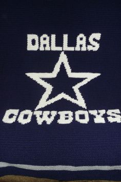 This Dallas Cowboys Crochet Crocheted Afghan Blanket - Great For Any COWBOY LOVER - is just one of the custom, handmade pieces you'll find in our afghans shops. Crochet Gifts, Crochet Yarn, Hand Crochet, Crochet Blankets, Free Crochet, Crochet Summer, Baby Blankets, Dallas Cowboys Blanket, Cowboy Crochet