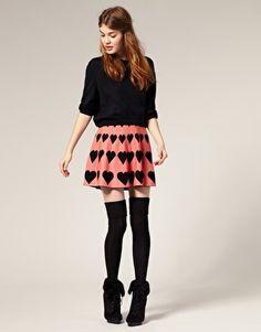 Heart Knitted Skirt