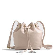d33543ecbf1c Sale! J.Crew Factory Leather Bucket Bag W/Tassels Кожаные Сумки, Кожаные