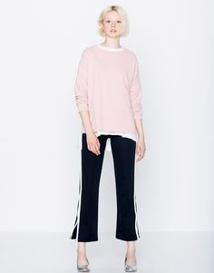 :PIPED SEAM SWEATSHIRT