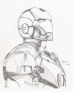 Iron Man sketch by TyndallsQuest.dev… on Iron Man sketch by TyndallsQuest. Superhero Sketches, Cartoon Sketches, Art Drawings Sketches, Disney Drawings, Cool Drawings, Hard Drawings, Realistic Drawings, Pencil Drawings, Avengers Drawings