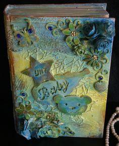 Mixed Media Bookart Keepsake box. Bookart by Herline.