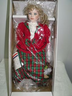 "18"" ""MARY"" Porcelain Doll US Historical Society Bette Ball-Goebel LE 1995 NIB( 5"