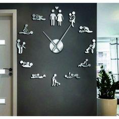 Diy Clock, Clock Decor, Clock Wall, Salon Furniture, Furniture Decor, Hair Salon Interior, Diy 3d, Family Wall Decor, Kitchen Themes