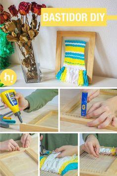 Telar decorativo ➜  Hazte un bastidor DIY con madera y cola y teje tu propio telar decorativo ;) #DIY #Manualidades #Handfie