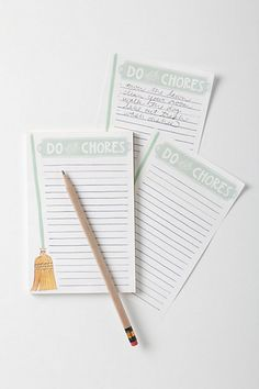 Do Your Chores List - Anthropologie