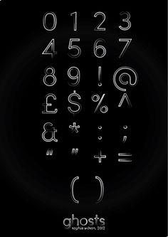 Ghosts//Illustrative type. by Sophie Wilson, via Behance